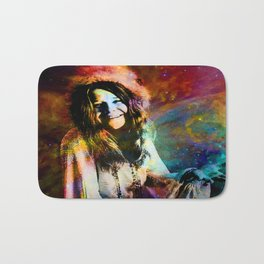 1970 Woman Of Rock And Roll By Annie Zeno Bath Mat