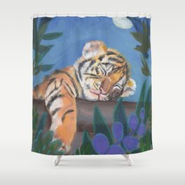 What Does the Tiger Dream? Shower Curtain