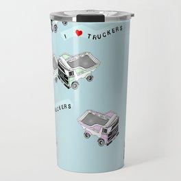 I Heart Truckers Travel Mug