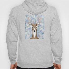 white-tailed deer woodland animal portrait Hoody