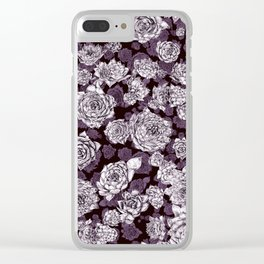 sempervivum-pattern Clear iPhone Case