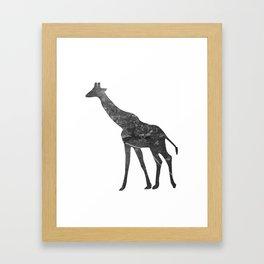 Giraffe (The Living Things Series) Framed Art Print