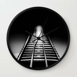 Bass Tracks Wall Clock
