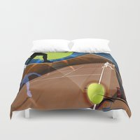 tennis Duvet Covers featuring Tennis by Robin Curtiss