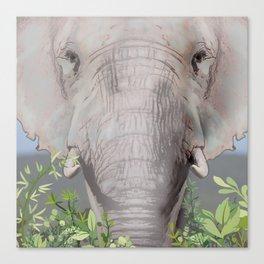 Foraging Elephant Canvas Print
