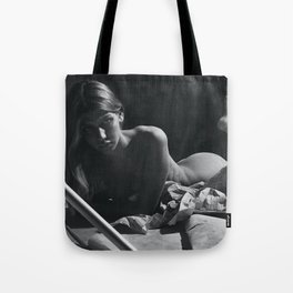 'My Muse, Plan B' female form nude black and white photograph / art photography Tote Bag