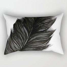 Psalm 91:4 Black Feather Rectangular Pillow