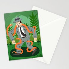 Man with Snakes Stationery Cards