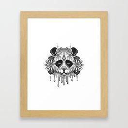 Blacksilver Panda Spirit Framed Art Print
