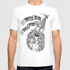 WSDR White MEDIUM Mens Fitted Tee