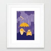 wall e Framed Art Prints featuring Wall-E by Gardner Art and Design
