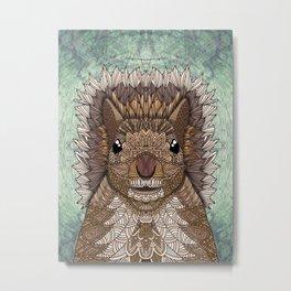 Ornate Squirrel Metal Print