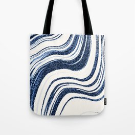 Textured Marble - Indigo Blue Tote Bag