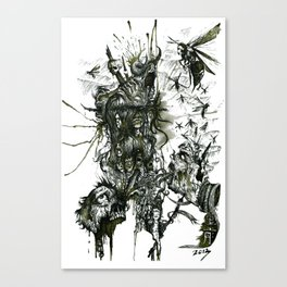 Monument Of The Uncleansed Canvas Print
