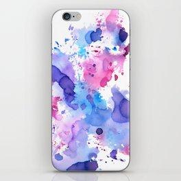 Color splash, pink, blue and purple palette iPhone Skin