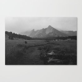 Moody Flatirons Canvas Print