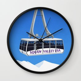 Squaw Valley Ski Resort ,LakeTahoe , California Wall Clock