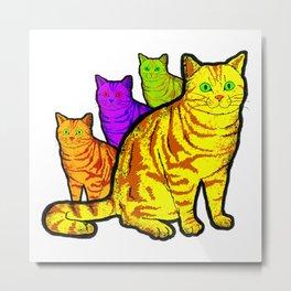 The Cat Brothers - American Shorthair Metal Print