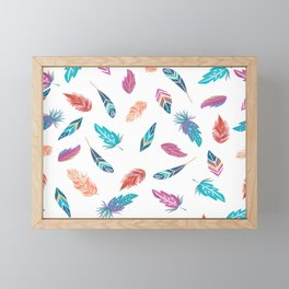 Feather pattern Framed Mini Art Print