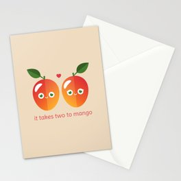 It Takes Two to Mango Stationery Cards