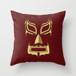 Luchador Mask Bad Guy Throw Pillow