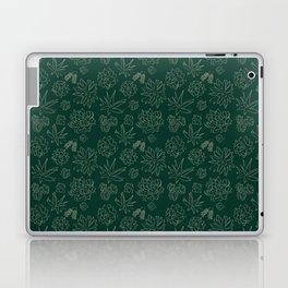 Dark Green Succulent Flower Garden Laptop & iPad Skin