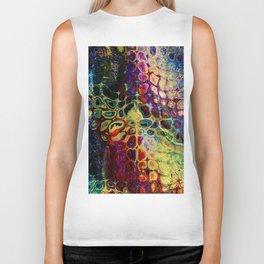 colorful abstract snake skin Biker Tank