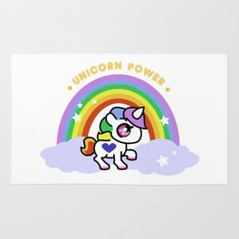 Unicorn Power - By Rainbows and Cotton Candy Rug