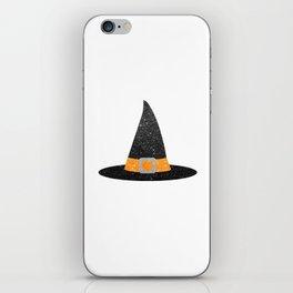 Glitter Witch Hat iPhone Skin