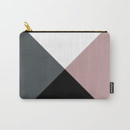 Modern dusty pink gray black white geometrical Carry-All Pouch