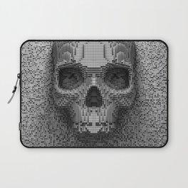 Pixel Skull B&W Laptop Sleeve
