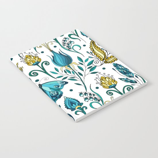 Floral pattern with butterfly Notebook