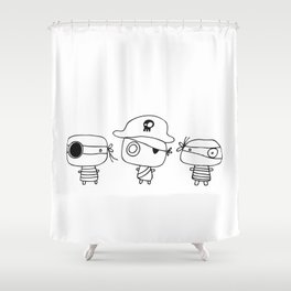 Three pirates, colour yourself Shower Curtain