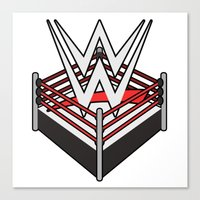wwe Canvas Prints featuring WWE Ring Logo by CmOrigins