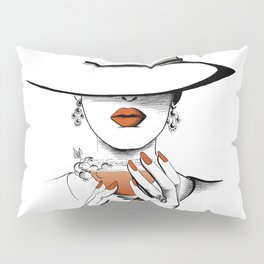 Lady In The Hat Pillow Sham