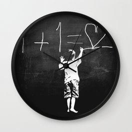 One Plus One Equals Love Wall Clock