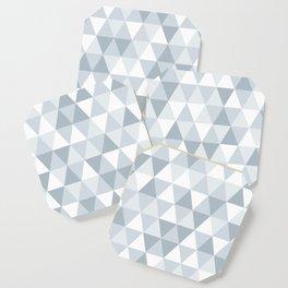 shades of ice gray triangles pattern Coaster