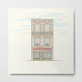 Parisian Tabac shop vector illustration Metal Print