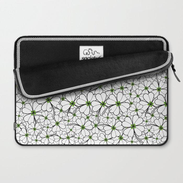 Line art - Clover Laptop Sleeve