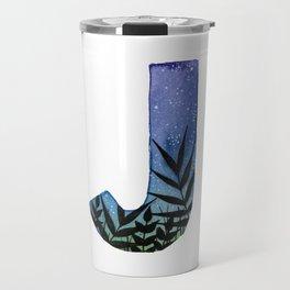 Galaxy Alphabet Series: J Travel Mug