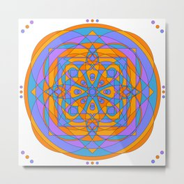 Mandala energía · Glojag Metal Print