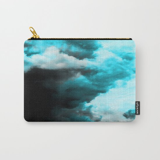 Relaxed - Cloudy Abstract In Blue And Black Carry-All Pouch