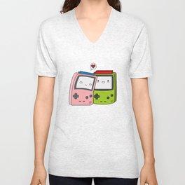 Game Boy love Unisex V-Neck