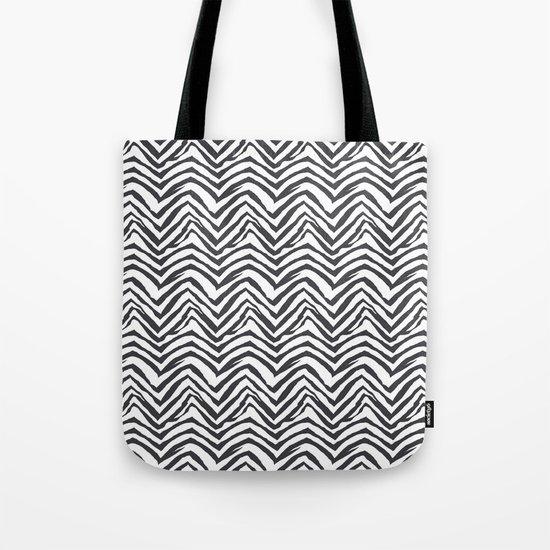 Zebra stripes minimal black and white modern pattern basic home dorm decor nursery Tote Bag