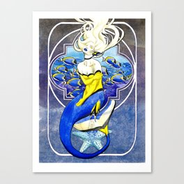 Powder Tang Mermaid Canvas Print
