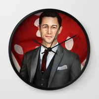 inception Wall Clocks featuring Inception - Arthur by Mel Hampson