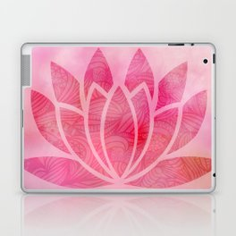 Zen Watercolor Lotus Flower Yoga Symbol Laptop & iPad Skin