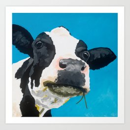 Margot the Relaxed Cow Art Print