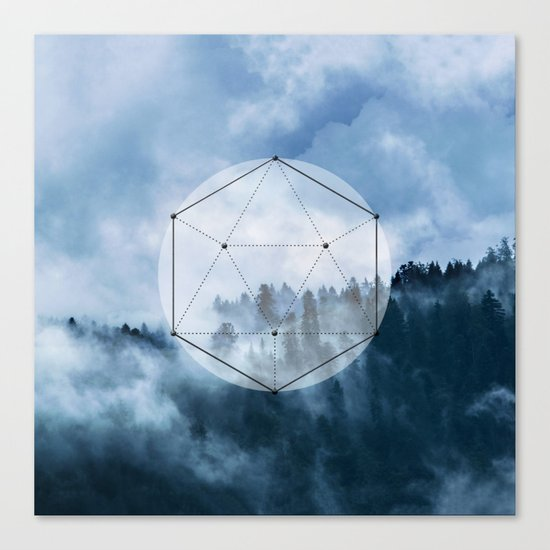 Wander into the wild blue mountains Canvas Print
