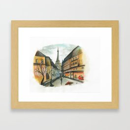 Christmas in Paris Framed Art Print